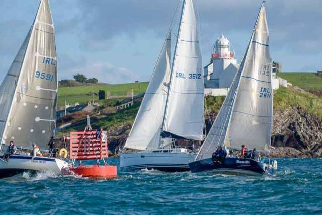 Mixed sailing cruisers competing in a Royal Cork Yacht Club Race in Cork Harbour. The ICRA National Championships wil be held at RCYC from 9th to 11th June