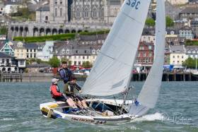 The National 18s racing in Cork Harbour. Scroll down for photo gallery