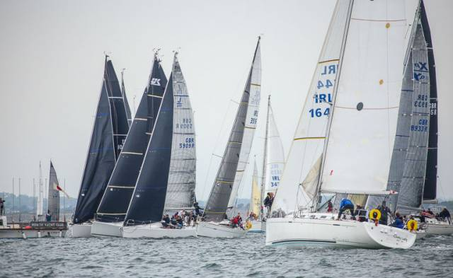 A Cruiser–Racer start at June's Wave Regatta at Howth Yacht Club