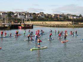 The Stand Up Paddleboarding Fundraiser at Bangor Harbour