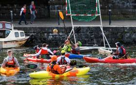 Canoe polo at the second Watersports Inclusion Games in Galway last year