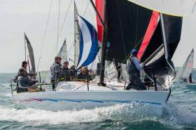 Consistent sailing for Nigel Biggs put the British team in the lead of the Half Ton Cup in Kinsale