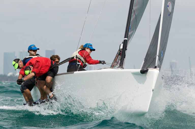 Ireland's Embarr crew at the Melges 24 World Championships