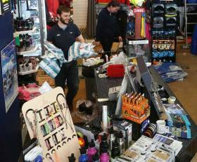 A busy Viking Marine store in Dun Laoghaire
