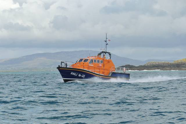 Baltimore RNLI's all-weather lifeboat launched for the station's third medical evacuation in two weeks on Monday morning 21 May