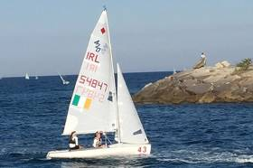 Malahide YC sisters Cara and Gemma McDowell sail home after racing