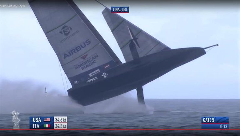 Team USA capsizes in America's Cup challenger series