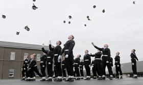 File photo of Naval Service recruits 'passing out'