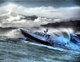An Interceptor 48 pilot boat in its element