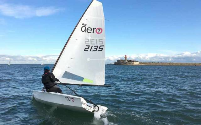 The RS Aero dinghy in Dun Laoghaire