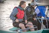RCYC General Manager Gavin Deane was also helming a National 18 dinghy in the end of season crews race at Crosshaven