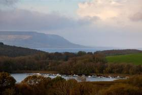 The view towards Maghoo from Clareview across Lough Erne