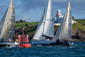 Racing in the O'Leary Winter league today off Roches's Point in Cork Harbour. Scroll down for photo gallery below