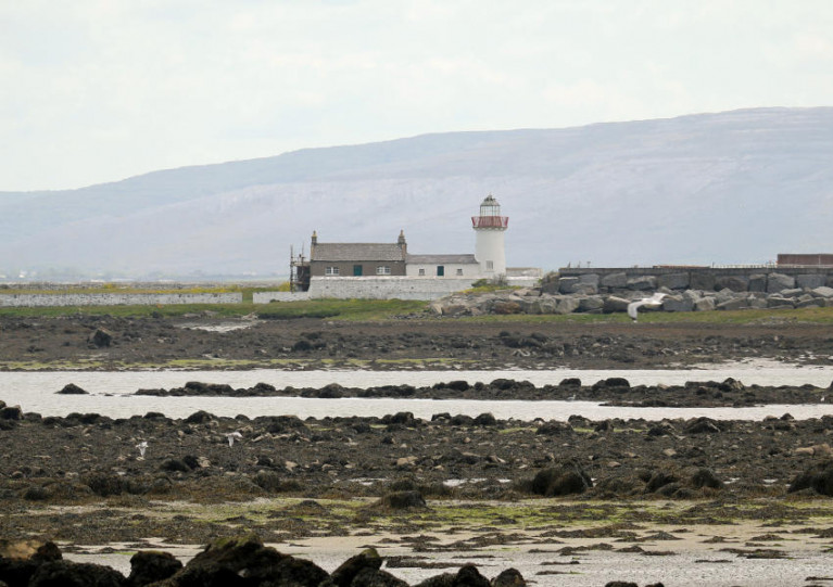 File image of Mutton Island and its lighthouse in Galway Bay