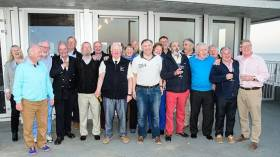 Greystones Sailing Club Commodore David Nixon (centre) with members of the Cruising Association of Ireland at the new Greystones SC clubhouse on Saturday night. Photo Aidan Couglan