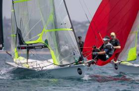 Robert Dickson (Howth YC) and Sean Waddilove (Skerries Sailing Club) competing in Auckland