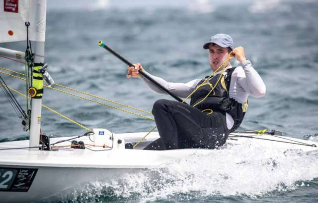 Finn Lynch made the Gold fleet cut - but only just - in Japan today.