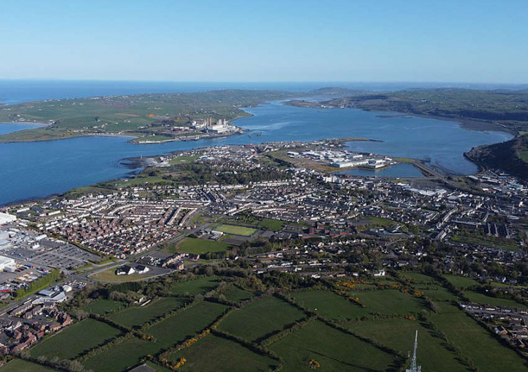 File image of Larne and Larne Harbour in Co Antrim