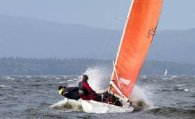 Squib sailing on Lough Derg