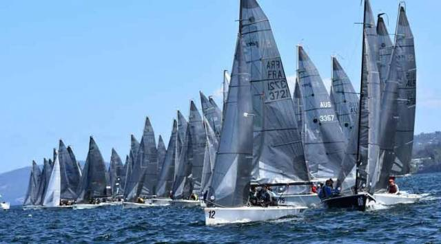 Fifty nine SB20s on the line on Hobart's River Derwent
