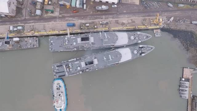 Watch Drone Video Of Naval Service Ship's Tight Manoeuvre Into Port