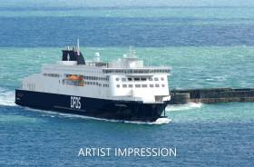 A new ferry for DFDS Dover-Calais service in 2021, will be named Côte D'Opale and follows a steel cutting ceremony of the ferry in China. AFLOAT adds the newbuild chartered from Stena Ro Ro which has ordered eight Stena's E-Flexer class ropax ferries to include sisters entering Irish Sea service from next year.