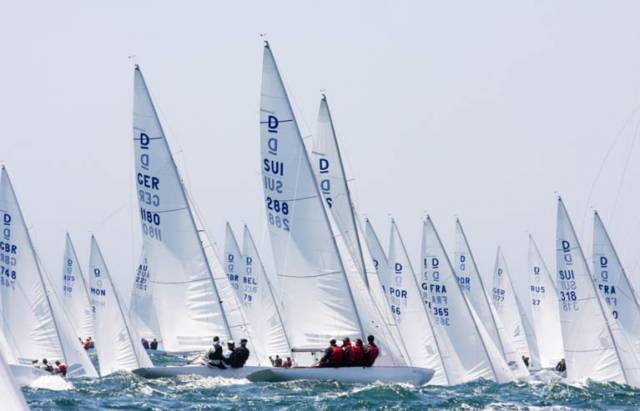 70 Dragons from 19 nations, including an Irish Dragon from Dublin, are contesting the World Championships in Cascais