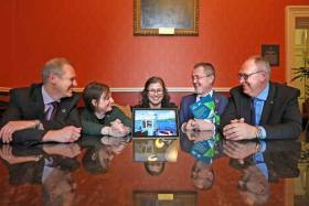 Picture shows l-r, Carl Obst, IDEEA;  Gráinne Devine, BIM; Jane Stout, Chair of the Irish Forum on Natural Capital and Professor in Ecology in Trinity College Dublin; Jim O'Toole, CEO, BIM and Mark Eigenraam, IDEEA