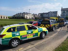 The NI Ambulance Service also attended the scene at Castlerock