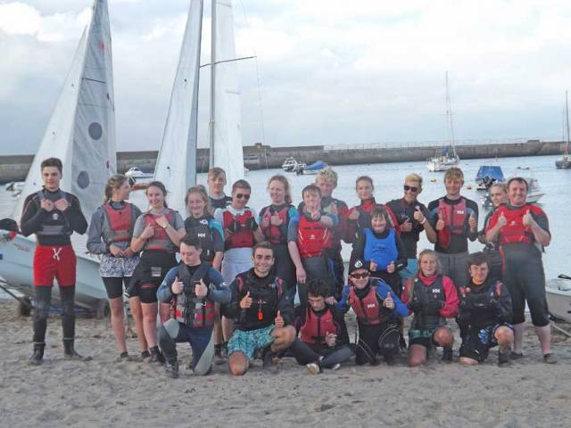 Bray Sailing Club members mingle with Lakers trainees during last week's Try Sailing course