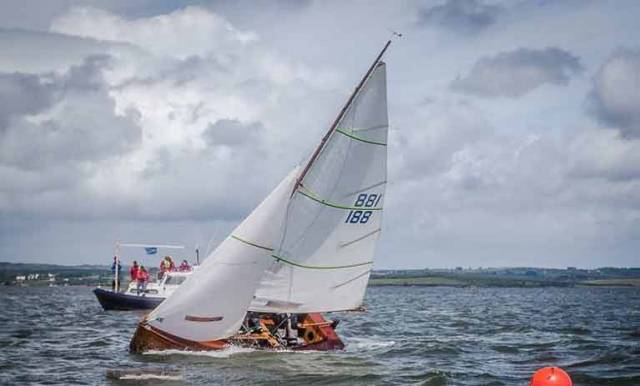 Mermaid number 188 crosses the line for the overall win at Foynes