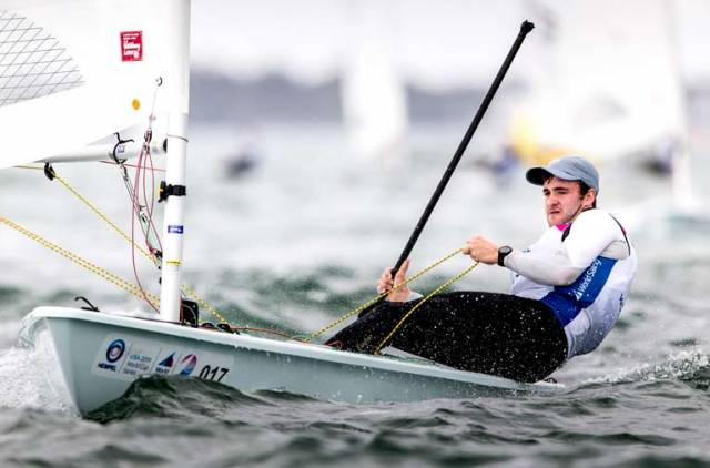 Irish Laser ace Finn Lynch. The Laser dinghy has been selected for use in the Paris 2024 Olympic Games