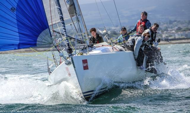 Jalapeno (P Barrington et al) was the DBSC winner of Saturday's Coastal Race to Greystones