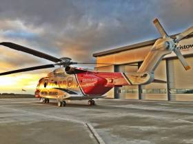 HM Coastguard's Prestwick-based rescue helicopter