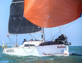 The Jeanneau 'Bellino' finished second in Class two, third in the two handed division and eighth overall, an impressive two-handed sailing feat