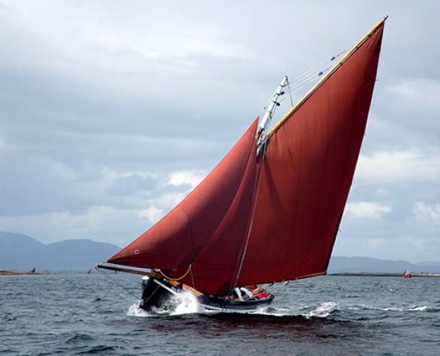It could only be Connemara. A classic Galway Hooker in full racing trim. The story of these traditional boats and the people who build and sail them will be told on RTE One Television on Monday May 23rd at 7.30pm