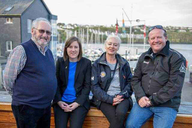 Neil Prendeville KYC, Deidre Lane MSc MNI Master Mariner, Sue Horgan Rear Commodore KYC and Thomas Roche Commodore KYC