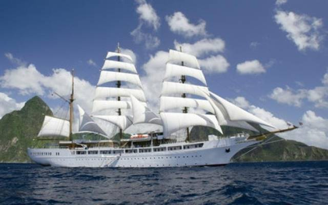 Rare call of the ultra-luxury cruise tallship, Sea Cloud II which overnighted in Dublin Port