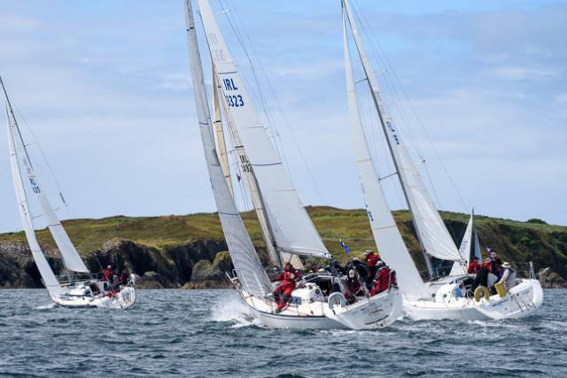 A Calves Week Fastnet Race with SCORA boats competing