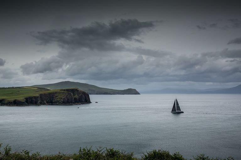 The biggest ever entry in the Dun Laoghaire Dingle Race arrives into Dingle Bay to set a new record in the 2019 race