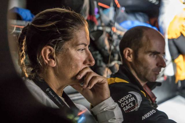 Turn the Tide on Plastic skipper Dee Caffari contemplates her team's bold break north ahead of the storm system