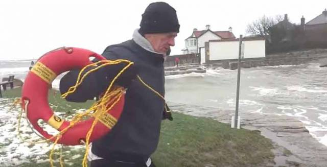 Dublin sailor Philip Lee comes to the rescue of a swimmer at Sandycove during Storm Emma yesterday. See video below. The Coastguard has urged people to act responsibly and not to go swimming in any lakes, rivers or in the sea.