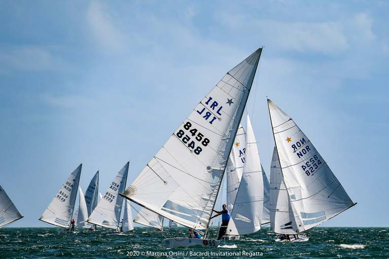 Peter and Robert O'Leary in winning form in their Star boat 'Archie' in Miami