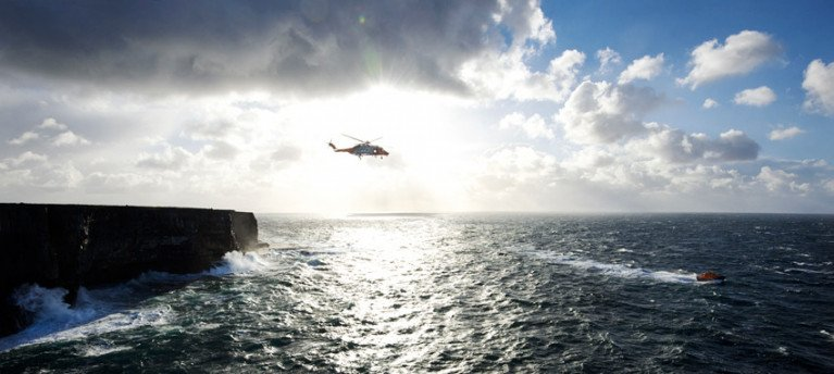 Irish Coast Guard helicopter on patrol
