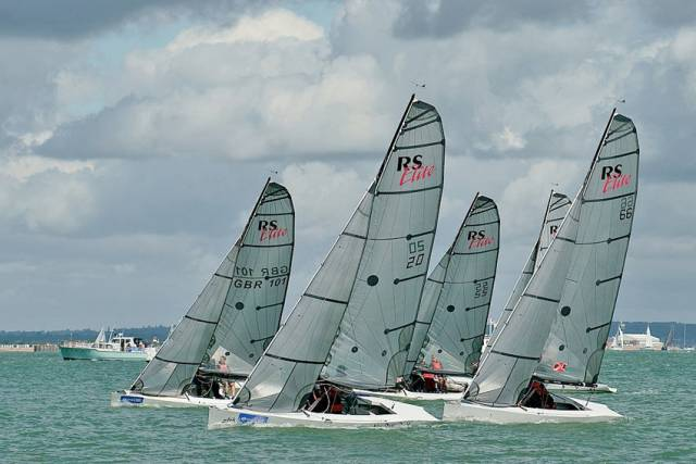 RS Elite yachts racing at Cowes Week 2017