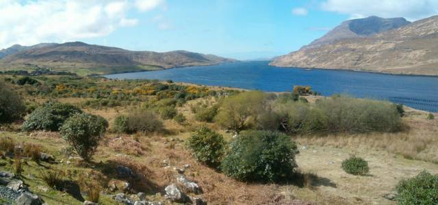 Killary Harbour between Counties Galway and Mayo