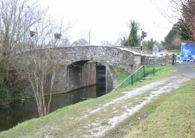 File image pf Deey Bridge and the 13th Lock on the Royal Canal, west of Leixlip in Co Kildare
