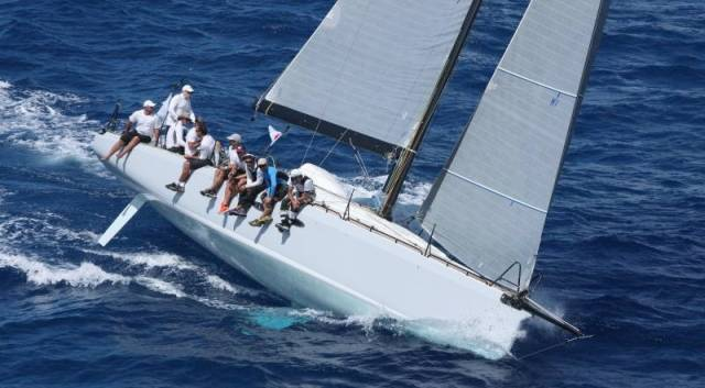 France Blue: In February's RORC Caribbean 600, Eric De Turckheim's well-travelled A13, Teasing Machine finished third overall and won IRC 1. This moning, she was an early finisher in the Round Ireland race and is a club house leader in IRC one
