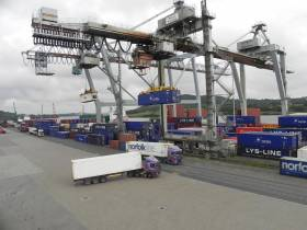 The Belview Terminal, which in the majority handles lo-lo traffic is the main terminal for the Port of Waterford