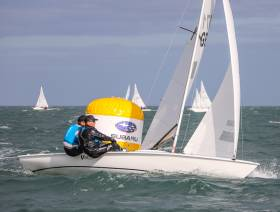 British National Champions Graham Vials and Chris Turner in action on Dublin Bay